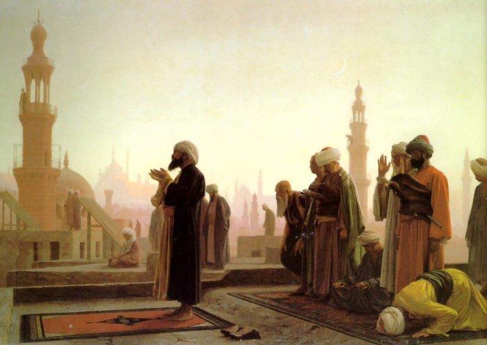 Мусульмане обращаются к Аллаху