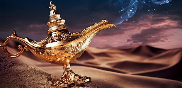 Лампа Алладина, исполняющая желания