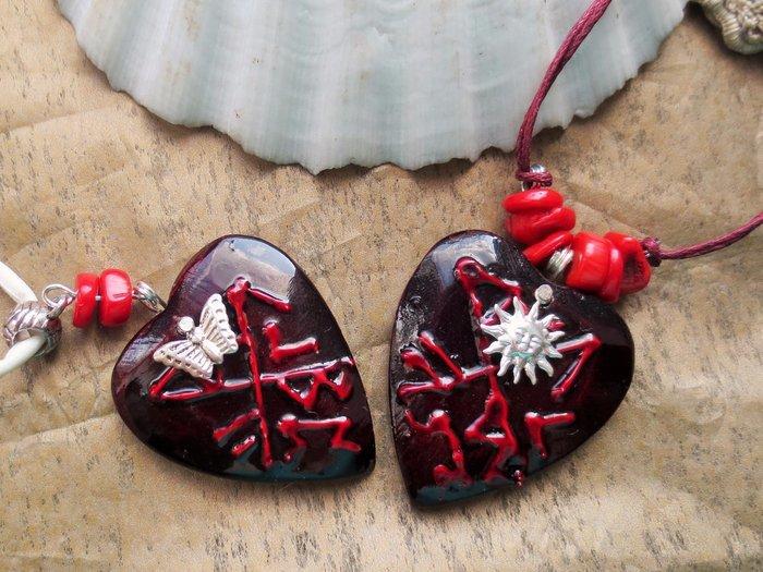 Амулеты любви в виде сердец