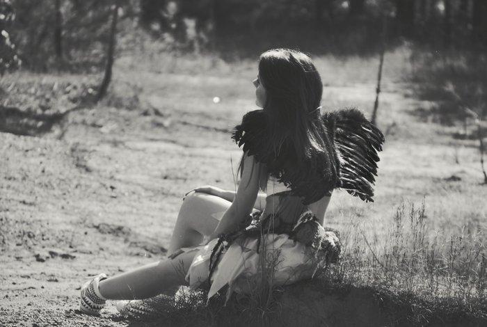 Девушка в костюме ангела