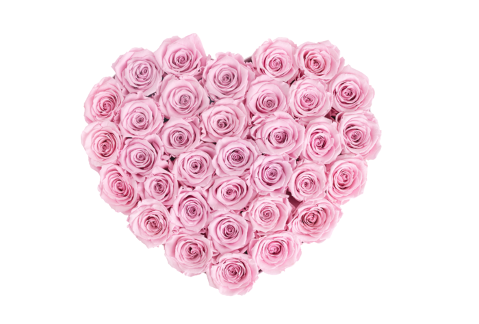 Цветочный букет в форме сердца