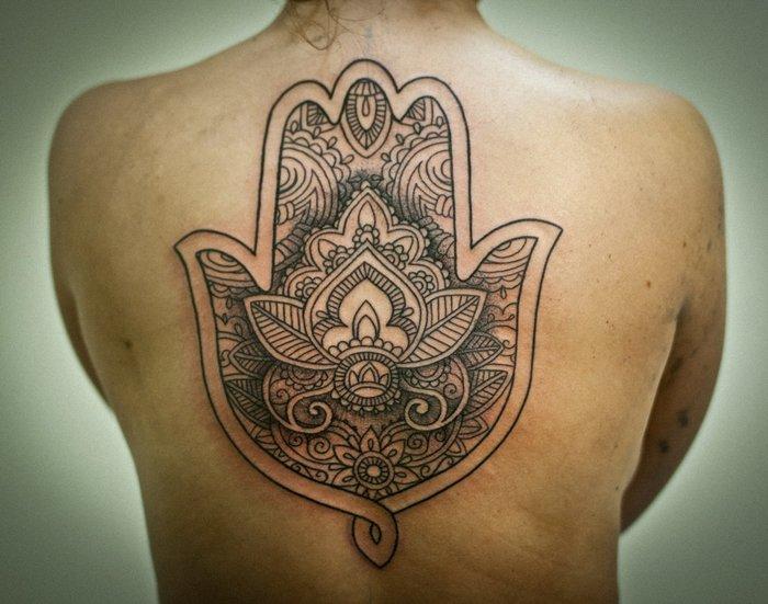 Татуировка Рука Фатимы